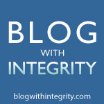 We're part of the Blog with Integrity
